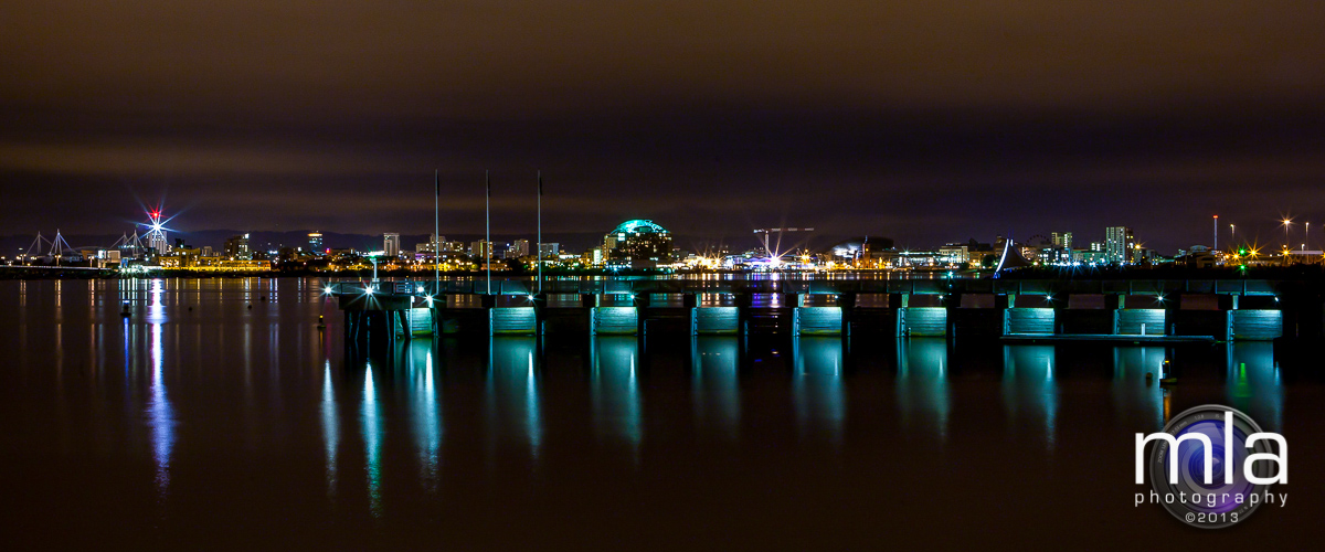 Landscapes: Cardiff Bay at night