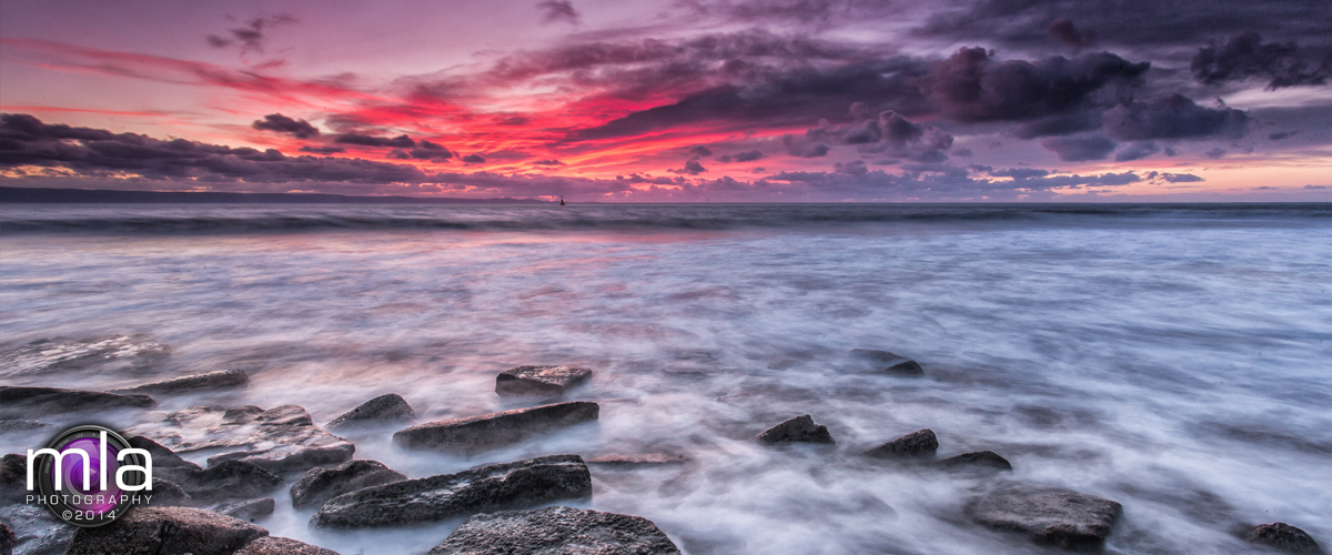 Seascapes: Nash Point under a stunning sunset